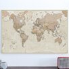 dCor design 'Antique World Map' Graphic Art Print on Canvas