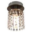 Fairmont Park Alfreton 1 Light Semi-Flush Ceiling Light