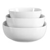 Mint Pantry Lyman 3 Piece Porcelain Serving Bowl Set