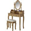 Prestington Jessica Wooden Dressing Table Set with Mirror