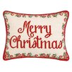 The Holiday Aisle Christmas Medallion Needlepoint Lumbar Pillow