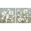 Charlton Home Sweetbay Magnolia Framed 2 Piece Set on Canvas