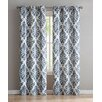 Charlton Home Blumenthal Geometric Semi-Sheer Grommet Curtain Panels (Set of 2)