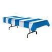 Ebern Designs Clare Blue/White Stripes Tablecloth