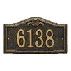 Whitehall Products Gatewood Personalized Standard 1-Line Wall Address Plaque