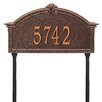Whitehall Products Roselyn Personalized Arch Grande 1-Line Lawn Address Sign