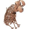 House Additions Metal Dog Garden Statue