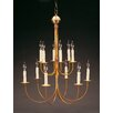 Northeast Lantern Sockets Hanging 2 Tier J-Arms 12-Light Candle-Style Chandelier