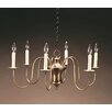 Northeast Lantern Sockets Hanging Bell Body S-Arms 6-Light Candle-Style Chandelier