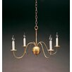 Northeast Lantern Sockets S-Arms Hanging 4-Light Candle-Style Chandelier