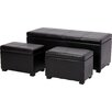 Heartlands Furniture Stella 3 Piece Storage Ottoman Set