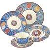 Creatable Sumaya Blue 30 Piece Dinnerware Set, Service for 6 People