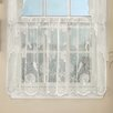 Sweet Home Collection Reef Marine Knitted Lace Kitchen Tier Curtain (Set of 2)