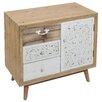 Castleton Home Fez 3 Drawer Bedside Table