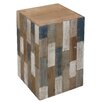 Castleton Home Cube Decorative Stool