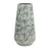 World Menagerie Blue/Ivory Decorative Ceramic Floor Vase