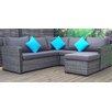 Hokku Designs Gabrielle Sectional Sofa with Cushions