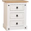 August Grove Angelina 3 Drawer Bedside Table