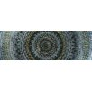 Vintage Boulevard Sequined Mandala IV Framed Wall Art on Canvas in Blue