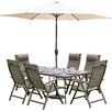 Prestington Florence 6 Seater Dining Set with Parasol
