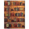 Bel Étage 'Bookshelf' Graphic Art Print on Wrapped Canvas