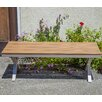 Ivy Bronx Cade Outdoor Aluminum and Poly Wood Garden Bench