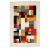 Parwis Gabbeh Monza Hand-Knotted Multicoloured Area Rug
