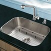 VIGO 23 inch Undermount Single Bowl 18 Gauge Stainless Steel Kitchen Sink with Avondale Stainless Steel Faucet, Grid, Strainer and Soap Dispenser