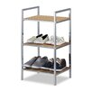 Relaxdays Bamboo 70cm 3 Shelf Shelving Unit