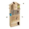 Relaxdays Natural Insect Hotel Free-standing Bumblebee and Butterfly House