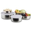 Relaxdays Stainless Steel 5 Piece Food Storage Container Set