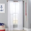 Kelvin Solid Semi Sheer Tab Top Single Curtain Panel