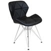 Varick Gallery Burling Upholstered Dining Chair with Metal Legs (Set of 2)