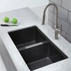 "Kraus 32.5"" x 18.88"" Double Basin Undermount Kitchen Sink"