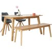 Fjørde & Co Barton Dining Table and 2 Chairs and Bench