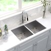 "Kraus Pax™ 31.5"" x 18.5"" Double Basin Undermount Kitchen Sink"