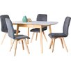Mercury Row Berrick Extendable Dining Table and 4 Chairs