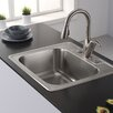 "Kraus 25"" x 22.4"" Drop-In Kitchen Sink"