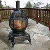 DeckMate Potbelly Cast iron Wood Burning Chiminea