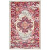 Bungalow Rose Bethesda Ivory/Fuchsia Indoor Area Rug