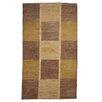 Caracella Gabbeh Afghan Hand-Woven Wool Brown/Yellow Area Rug