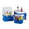 Relaxdays 3 Piece Rolling Cooler Set