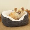 Rosewood Pet Products 40 Winks Oval Jumbo Pet Bed in Grey/White