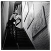 ERGO-PAUL Actress in Evening Gown on Stairway Framed Photographic Print