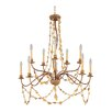Flambeau Mosaic 10 Light Candle Chandelier