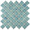 "EliteTile Pharsalia 2"" x 2.25"" Porcelain Mosaic Tile in Marine"