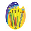 Bazic Kid's Watercolor Paint Brushes (Set of 9)