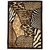 DonnieAnn Company Animal Skin Prints Patchwork Design Brown Area Rug