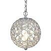 Naeve Leuchten Crystallo Decorative 1 Light Globe Pendant