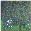 "Trademark Fine Art ""Roses Under the Trees, 1905"" by Gustav Klimt Painting Print on Wrapped Canvas"